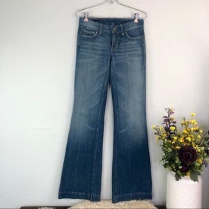 COH Faye wide leg flare jeans chain link #197